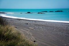 Linea costiera irregolare di Kaikoura, Nuova Zelanda Immagini Stock Libere da Diritti