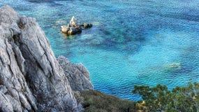 Linea costiera - isola di Karpathos - la Grecia Fotografia Stock