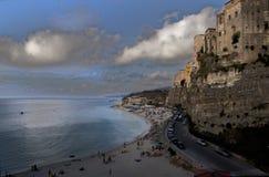 Linea costiera Italia del sud Fotografia Stock