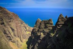 Linea costiera Kauai del Na Pali Immagini Stock