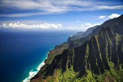 Linea costiera Kauai del Na Pali fotografie stock libere da diritti