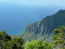 Linea costiera Kauai di Napali Fotografie Stock Libere da Diritti