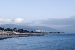 Linea costiera lungo il Mar Nero immagine stock