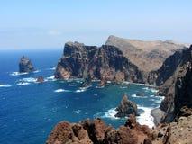 Linea costiera, Madera immagine stock libera da diritti