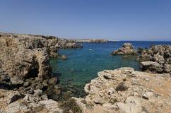 Linea costiera mediterranea Fotografie Stock Libere da Diritti