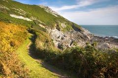Linea costiera nel Galles Fotografia Stock Libera da Diritti