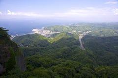 Linea costiera nel Giappone fotografia stock