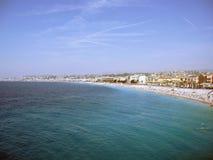Linea costiera in Nizza, Francia Immagine Stock Libera da Diritti