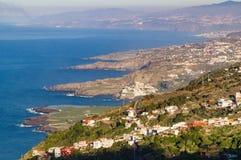 Linea costiera nordica dell'isola di Tenerife Fotografia Stock Libera da Diritti