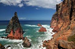 Linea costiera nordica di Ponta de Sao Lourenco al Madera, Portogallo 03 Immagine Stock