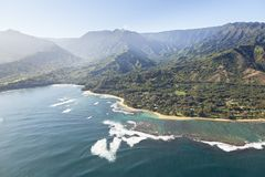 Linea costiera nordica, Kauai immagini stock libere da diritti