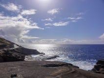 Linea costiera pacifica di Oahu Immagine Stock Libera da Diritti