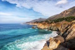 Linea costiera pacifica lungo la strada principale 1, California Fotografia Stock Libera da Diritti