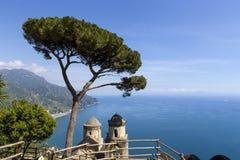 Linea costiera in Ravello, costa di Amalfi, Italia Fotografia Stock
