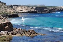 Linea costiera robusta Immagini Stock Libere da Diritti