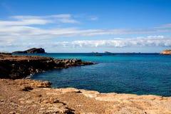 Linea costiera rocciosa scenica Immagini Stock