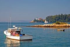 Linea costiera scenica della Maine Fotografia Stock Libera da Diritti