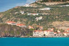 Linea costiera scenica in st Maarten, i Caraibi orientali Fotografie Stock