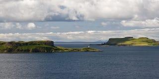 Linea costiera scozzese sull'isola di Skye Fotografia Stock