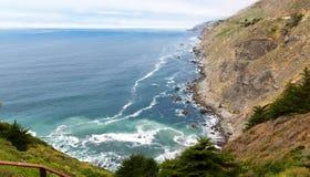 Linea costiera selvaggia della California fotografia stock