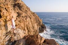 Linea costiera selvaggia spagnola Fotografia Stock
