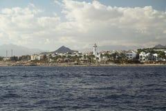 Linea costiera in Sinai Fotografia Stock Libera da Diritti