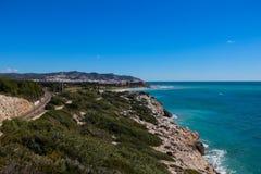 Linea costiera spagnola scenica Fotografia Stock Libera da Diritti