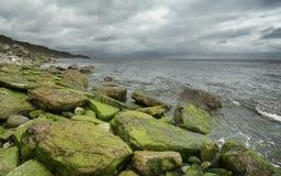 Linea costiera tempestosa Fotografia Stock Libera da Diritti