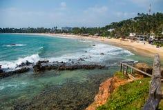 Linea costiera tropicale dalla piattaforma di osservazione Fotografie Stock