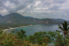 Linea costiera tropicale in Lombok Fotografie Stock