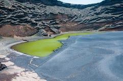 Linea costiera vulcanica di Lanzarote Immagine Stock