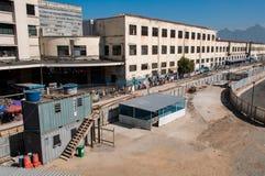 Linea costruzione del tram Immagine Stock Libera da Diritti