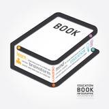 Linea cronologia del diagramma di progettazione del libro di vettore di Infographics di stile illustrazione di stock