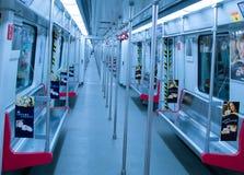 Linea 2 decorazione interna della metropolitana di Canton del treno Fotografia Stock