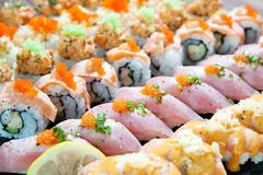 Linea dei sushi Immagini Stock Libere da Diritti