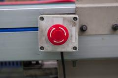Linea del bottone dell'arresto di emergenza Fotografia Stock Libera da Diritti