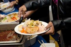 Linea del buffet Immagini Stock Libere da Diritti