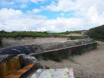 Linea del bunker Fotografia Stock Libera da Diritti
