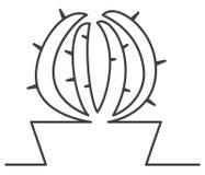 Linea del cactus uno Immagini Stock