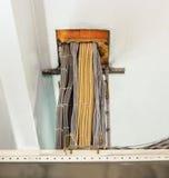 Il cavo di rame rimosso di energia elettrica Fotografie Stock
