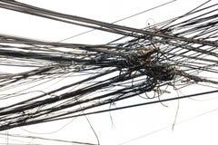 Linea del cavo di groviglio in Tailandia Fotografia Stock