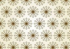 Linea del cerchio della stella e modello di fiore del centro su colore pastello Fotografie Stock Libere da Diritti