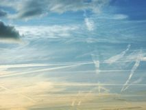 Linea del cielo Fotografia Stock