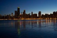 Linea del cielo di Chicago Immagine Stock Libera da Diritti