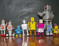 Linea del robot Fotografia Stock