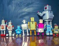 Linea del robot Fotografie Stock Libere da Diritti