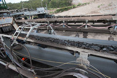 Linea del trasporto di carbone immagini stock