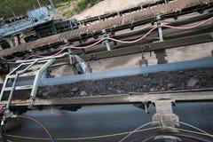 Linea del trasporto di carbone fotografie stock