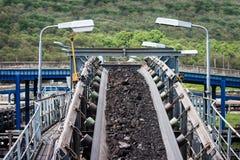 Linea del trasporto di carbone fotografia stock libera da diritti