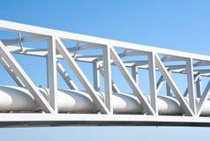 Linea del tubo su cielo blu Immagini Stock Libere da Diritti